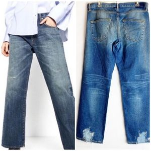 New Zara Studio Oversized Me Distressed Jeans S